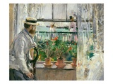 Eugene Manet (1834-92) on the Isle of Wight (Oil on Canvas) Giclee Print