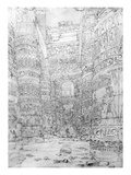 Colonnade in an Egyptian Temple, 1824-32 (Pencil on Paper)