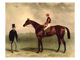 Gladiateur with Harry Grimshaw Up and His Owner, Count Frederic De Lagrange, 1865 (Oil on Canvas)
