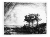 The Three Trees, Engraved by James Bretherton (Etching)