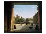 The Courtyard of the Institut De France, 1825-62 (Oil on Canvas)