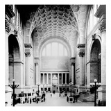Pennsylvania Station, New York City, Main Waiting Room- Looking North, C.1910 (B/W Photo)