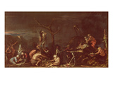 Scene of Witches (Oil on Canvas)