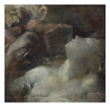 Study for 'Ophelia', C.1870 (Panel)