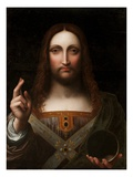 Cristo Salvator Mundi (Oil on Wood Panel)