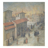 Ponte a Santa Trinita, Florence, 1555 (Fresco)