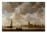 View of Dordrecht Downstream from the Grote Kerk, 1647 (Oil on Panel)