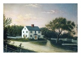 The Artist's Family House, C.1859 (Oil on Canvas)
