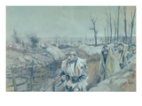 A Trench in Artois, 1915-16 (W/C on Paper)