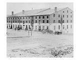 The Confederate Libby Prison for Prisoners of War at Richmond, Virginia (B/W Photo)