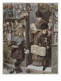 Christmas Gifts', Illustration from 'Paris Illustre', 1886 (Colour Litho)