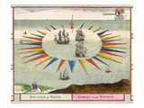 Compass of the Winds, 1693 (Colour Litho)