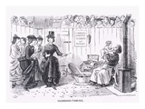 Husband-Taming, Almanack for '59, from 'Punch' Magazine, 1859 (Litho)