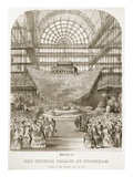 Opening of Crystal Palace at Sydenham by Queen Victoria on June 10 1854 (Litho)