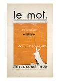 Front Cover of 'Le Mot' Magazine, December 1914 (Colour Litho)
