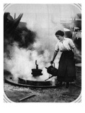 A Ready Helper in War Time: Miss Edith Hawley Cooling-Off a Wheel