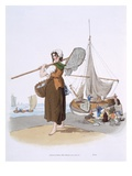 Female Shrimper, from 'Costume of Great Britain', Published by William Miller, 1805 (Colour Litho)
