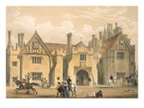 Joust Practice, Compton Wynyates, Warwick, Mid 1600S, from 'Architecture of the Middle Ages'