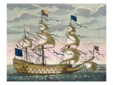 Royal (Flagship) of the English Fleet, Flying the Royal Standard, from 'Le Naptune Francois'