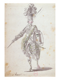 Costume for Rinaldo in the Opera 'Rinaldo and Armida' Performed in 1761
