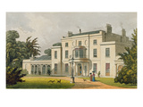 Wimbledon House, from Ackermann's 'Repository of Arts', Published 1826 (Colour Litho)