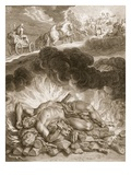 The Death of Hercules, 1731 (Engraving)