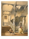 Grand Elizabethan Staircase, Aldermaston, Berkshire, from 'Architecture of the Middle Ages'