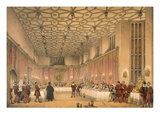 The Chamber, Hampton Court, from 'Architecture of the Middle Ages', Published 1838 (Colour Litho)