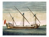 A Three-Masted Galleass under Way by Oar, from 'Le Naptune Francois', C.1693-1700