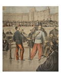Colonel Henry and Lieutenant-Colonel Picquart Speaking before the Court of Assisses