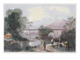 Bamboo Aqueduct at Hong Kong, Engraved by Henry Adlard, from 'China in a Series of Views'