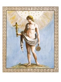 Apollo, Engraved by Francesco Bartolozzi, 1799 (Coloured Engraving)