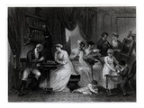 Drawing Room Scene, from 'The Social Day' by Peter Coxe, Engraved by Anker Smith (1759-1819)