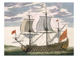 British Navy: a First-Rate Ship Flying the White Ensign; Three-Decker with Admiral's Cabin