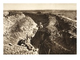 English Trench Between Bapaume and Arras (B/W Photo)