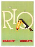 Braniff Air Rio c.1960s Art Print
