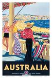 Australia Beach c.1929 Art Print
