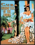 Buy Cuba Holiday Isle of the Tropics Vintage Ad Art Print Poster at AllPosters.com
