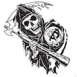 Sons of Anarchy WallJammer - Reaper with Sythe