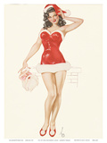 Pin Up Girl December c.1940s Art Print