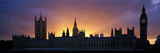 Sunset Houses of Parliament and Big Ben London England