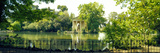 Reflection of Trees in a Garden, Temple of Aesculapius, Villa Borghese, Rome, Italy Photographic Print