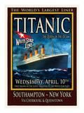Titanic White Star Line Travel Poster 2