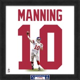 Limited Edition: Eli Manning, Giants photographic representation of the player's jersey