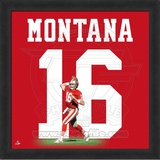 Joe Montana, 49ers photographic representation of the player's jersey