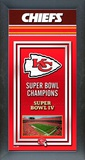 Kansas City Chiefs Framed Championship Banner