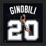 Manu Ginobili, Spurs photographic representation of the player's jersey