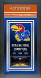 University of Kansas Jayhawks Framed Championship Banner