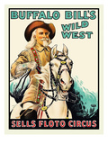 Buffalo Bill at the Sells Floto Circus Wild West Show