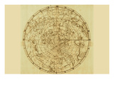 Buy Celestial Map of the Mythological Heavens with Zodiacal Characters at AllPosters.com